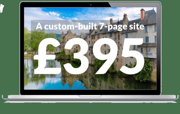 A custom built website for your gite for £395